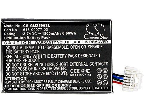 CS - Batteria agli ioni di litio da 1800 mAh per Garmin Zumo 590 590LM 595, sostituisce Garmin 010-12110-003 361-00077-10 616-00077-00 616-00077-10