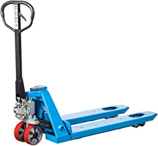 E20V Pallet Jack with Scale 4400 lbs Heavy Duty Hand Scale Pallet Truck 27 x 48
