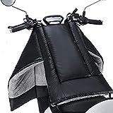 Oulian Cubrepiernas Moto Scooter, Cubre Piernas para Motos, Universal Manta para Scooter PU Espesado, Impermeable A Prueba De Viento Cálido Fundas para Motos, Instalación Fácil