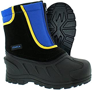 Kids Youth Snow Stomper Leather/Nylon Winter Boot