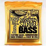 Ernie Ball 2833Hybrid Slinky bajo eléctrico 4cuerdas Set (45–105)