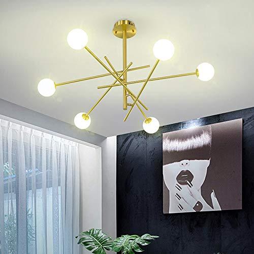 The only Good Quality Indoor woonkamer kandelaar Nordic moderne minimalistische persoonlijkheid goud metaal rond melk lampenkap glas restaurant lampenkap plafondlamp 100 x 95 cm