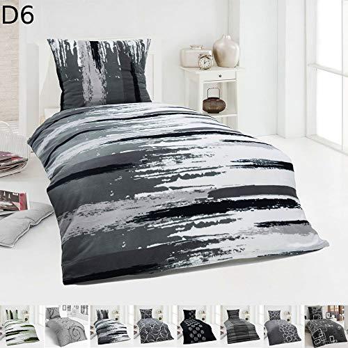 Dreamhome  Warme Winter Microfaser Thermo Fleece Bettwäsche 135x200 155x220 200x200 Moderne, Design - Motiv:Design 6, Größe:155 x 220 cm