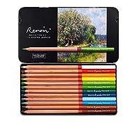 プロフェッショナル色鉛筆、油性、水溶性、ファインアートペインティング、プロフェッショナルハンドペイント(12色油脂、油性の風景テーマカラー)
