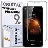 REY Protector de Pantalla para Huawei Y6 II Compact Cristal Vidrio Templado Premium
