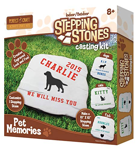 Perfect Craft Pet Memories Memorial Stone Cast & Paint Kit with Perfect Cast Casting Material and Reusable Mold