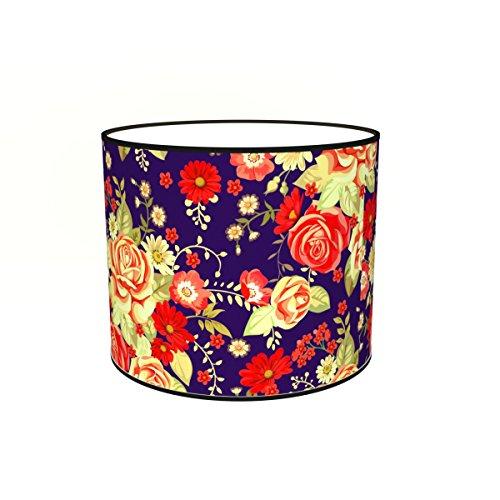 Abat-jours 7111304654721 Imprimé Violo Lampadaire, Tissus/PVC, Multicolore