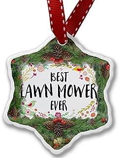 Valentine Herty Unique Designed Christmas Ornament Happy Floral Border Lawn Mower