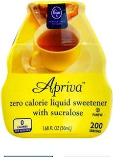Apriva Zero Calorie Liquid Sweetener with Sucralose Kroger Brand 200 Servings Pocket Sized Bottle