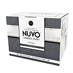 Low VOC, low odor, water-based acrylic paint and primer in one One-day application process that dries in a soft, satin finish Professional results with simple tools included in each kit Covers 100 square feet of cabinet surface (40 linear feet) - the...