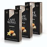 Café Royal flavo ured Vanilla, Café, Café, Cápsulas de Café Tostado, Compatible con Nespresso, 30Cápsulas