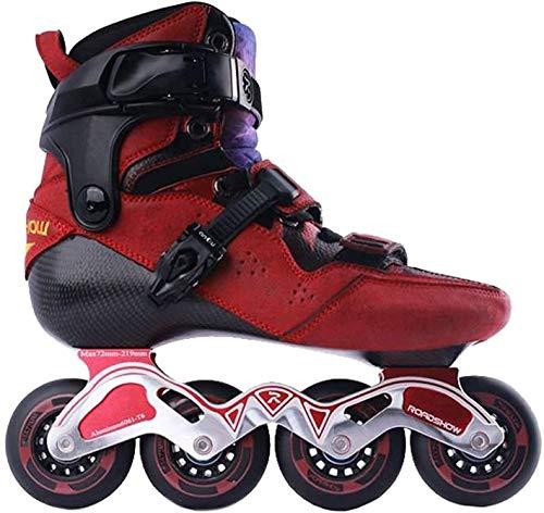 Patines de rodillos al aire libre Patinaje en línea Patines en línea, patines de rodillos competitivos profesionales para niños y adultos, con cojinete ABEC-9, material de fibra de carbono, patines pa