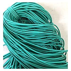 HLWJ 5 Meters/lot 3mm Colorful Round Elastic Band Rubber Elastic Rope Jewelry Bracelets Rope Outdoor Rope (Width : 3mm)