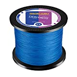 Braided Fishing Line Abrasion Resistant Superline Zero Stretch&Low Memory Extra Thin Diameter Blue 327Yds,100LB