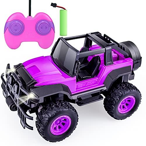 Ferngesteuertes Auto für Mädchen – RC Auto Spielzeug für Mädchen, Kinder, All-Petits, 1:20 ferngesteuerte LKW für Kinder, Geburtstagsspielzeug für Kinder, violett