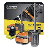 Dogtra Pathfinder GPS Electronic Dog Training Collar for Large Dogs - 9-Mile Range, 100 Levels Nick and Constant Stimulation, Vibration, Tone, Waterproof, Expandable to 21 Dogs, w/PetsTEK Clicker
