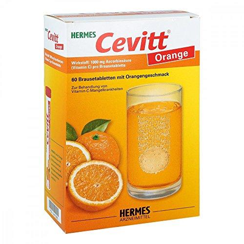 Hermes Cevitt Orange Brausetabletten mit Orangengeschmack, 6