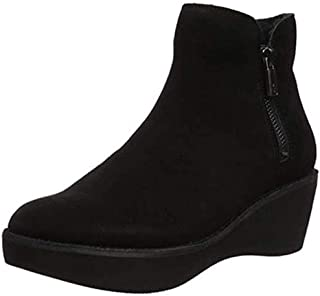 Womens Prime Closed Toe Ankle, Black Suede, Size 5.5