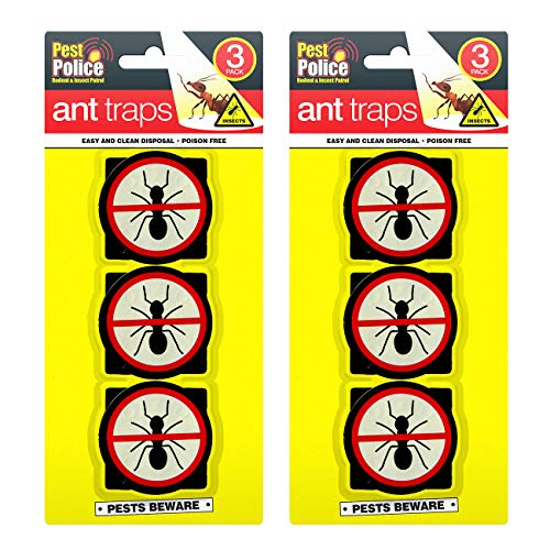 PEST POLICE 6pk Ant Traps   Home Bait Station   Stops and Glues Ants as an...