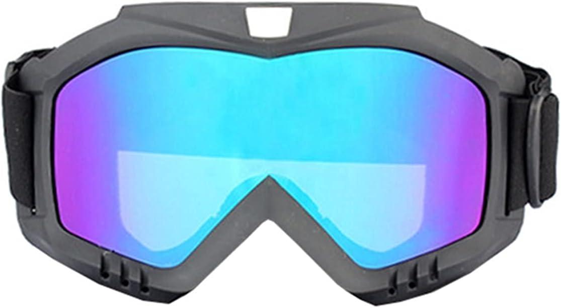 Hombres Mujeres Ski Snowboard Mask Snowmobile Skiing Goggles After Motocross Protector Gafas de Seguridad Gafas de Seguridad con Filtro de la Boca Bicicleta de esquí Gafas de Bicicleta de Suciedad