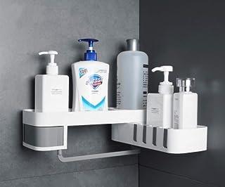 ENN LLC 浴室用ラック シャワーラック バスルームラック コーナーラック 洗面所 (グレー)