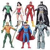 Hombre murciélago, Superman, Figura de superhéroe de la Liga de la Justicia de DC, DC Collectibles Justice League 7-Pack Figura de acción, Figuras de acción de Superhéroe Young Justice, Adventures