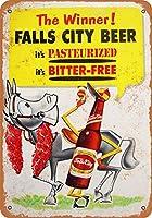 2個 20 * 30CMメタルサイン-フォールズシティビール メタルプレート レトロ アメリカン ブリキ 看板
