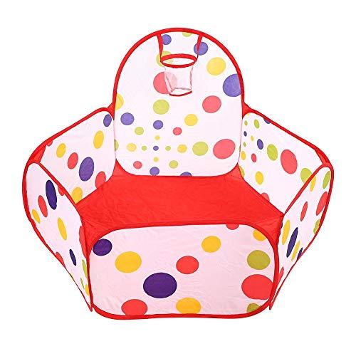 T best Carpas de Juguete Carpas de Juguete portátiles para niños de Dibujos Animados Bolas de bebé Pool Pop Up Kid Outdoor Tent(Cesta de 90cm)