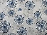 Confección Saymi Tela 100% algodón Estampado 2,45 MTS Ref. Sofu Azul, Doble Ancho 2,80 MTS.