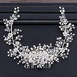 tocados boda,flores pelo,tocados pelo,adornos pelo,Peine de perlas de cristal brillante, corona, diadema para novia, diadema, accesorio para el cabello de boda nupcial