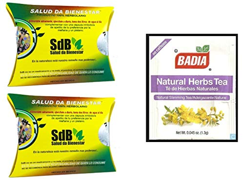 2 Boxes Semilla de Brasil Seed 100% Original Authentic Natural 60 Seeds 60 Day Supply Yellow Box And Weight Loss Sticker AND FREE Natural Herbs Slimming Tea