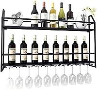 ヨーロッパの自立型金属ワインラックウォールラック|キューブワインボトルホルダー|ヴィンテージデザインの壁の装飾、家庭、オフィス、屋外用