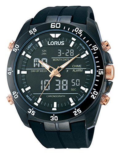 Lorus Watches Herrenuhr Analog-Digital Quarz mit Kautschukarmband – RW615AX9