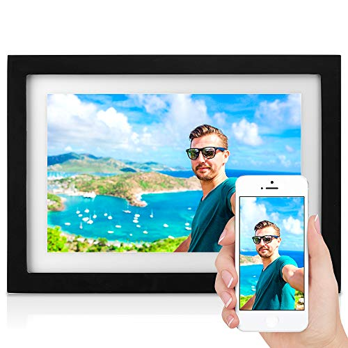 MRQ Touch WiFi HD Digital Photo Frame with 10.1 Inch Screen, Support Email, Cellphone App (iOS and Android), Digital Picture Frame 16GB Internal Storage Included Support USB Flash