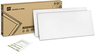 2-Pack ASD LED Panel 2x4 Dimmable Edge-Lit Flat 40W 4000K (Bright White) 4643 lm (120 lm/w), Commercial Grade, UL Listed DLC Certified