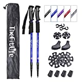 TheFitLife Hiking Walking Trekking Poles - 2 Pack with Antishock and Quick Lock System, Telescopic,...