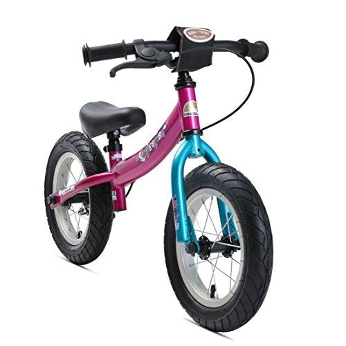 BIKESTAR Kinder Laufrad Lauflernrad Kinderrad für Mädchen ab 3 - 4 Jahre | 12 Zoll Sport Kinderlaufrad Berry Türkis | Risikofrei Testen