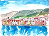 Posterlounge Cuadro de metacrilato 90 x 70 cm: Bergen Norway Old Bryggen Harbour Seafront de M. Bleichner