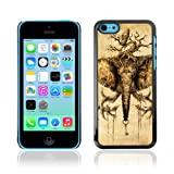 CelebrityCase Polycarbonate Hard Back Case Cover for Apple iPhone 5C ( Awesome Elephant Owl Tree )