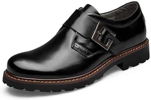 JUJIANFU-Bequeme Schuhe Arbeitsschuhe Herrenmode Oxford Cursory Comfort OX Leder Lace Up Klassische Freizeitschuhe (Schnallen sind optional)