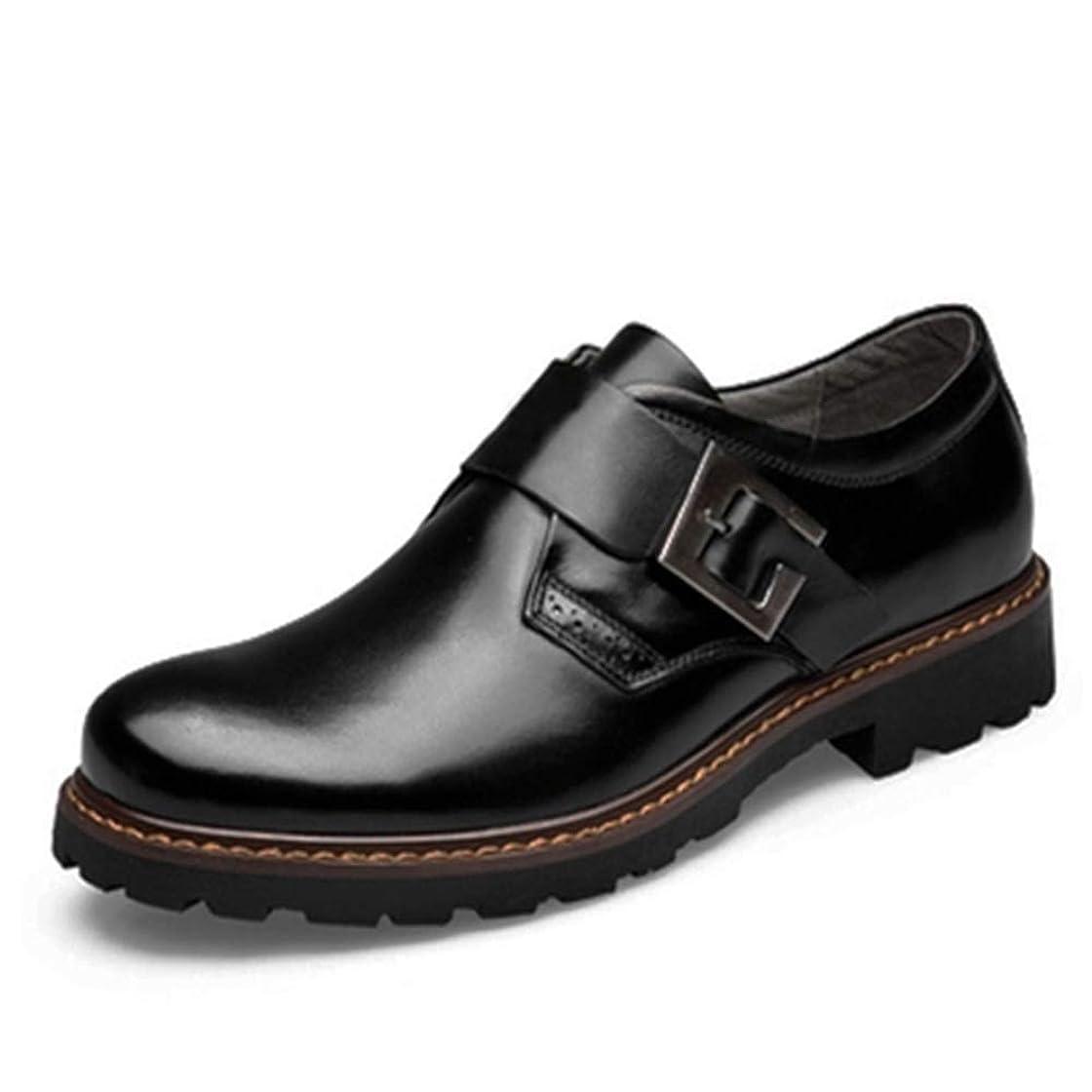 骨折詐欺これまで靴メンズファッションオックスフォードカジュアルコンフォートOXレザーレースアップクラシックレジャーシューズ(バックルはオプションです)