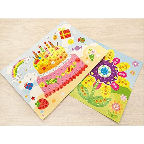 kuulee 10 pc crystal mosaiken aufkleber, auf kreative art aufkleber für kinder geschenke (random) zu senden
