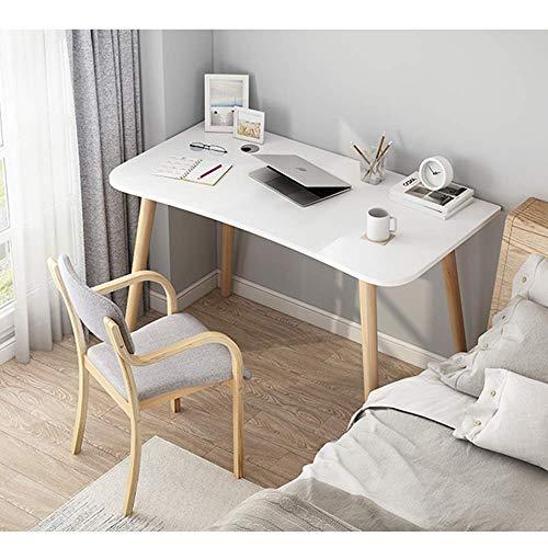 FSXJD Modern Computer Desk Simple Office Desk Solid Wood PC Laptop Table Conference table Home Study Desk-120x60cm B