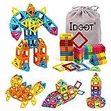 idoot Magnetic Tiles STEM Toddler Toys 52PCS Kids Magnet Building Blocks Game Educational Stacking Blocks Gift for Boys & Girls