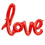 ballonfritz Love-Schriftzug Luftballon in Rot - XXL Folienballon als Hochzeit Deko, Geschenk oder Liebes-Überraschung zum Valentinstag