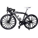 HONUTIGE Modelo de bicicleta de montaña 1:10, simulación de dedo en miniatura para montar en bicicleta de montaña, modelo retro MIni de metal fundido a presión para bicicleta de carreras