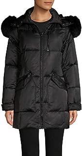 Real Fox Fur Trimmed Short Jacket