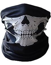 Calavera Tubular Protección Máscara De Polvo Bandana Moto Bufanda De Poliéster Cara Cuello Calentador para Snowboard esquí moto Ciclismo - BB-00