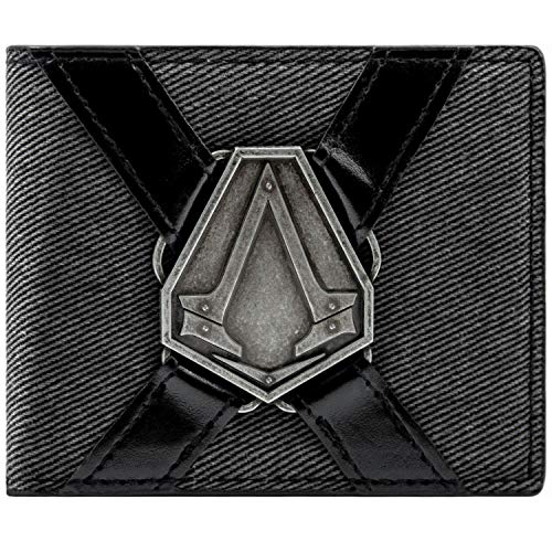 Ubisoft Assassins Creed Syndicate Silver Symbol Grau Portemonnaie Geldbörse