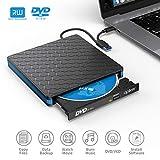 Lecteur DVD/CD Externe Type-c et USB 3.0, Apiker Graveur CD Externe avec Transmission...